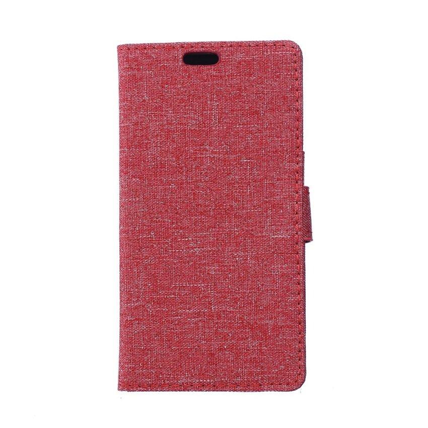 Fabic Grain Flip Cover for LG G40 (Red) (Intl)