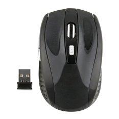 Fashion 2.4GHz USB Optical Blue Light Wireless Mouse USB Receiver Mice Cordless Game Computer PC Laptop Desktop- Intl