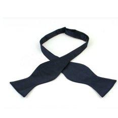 Fashion Adjustable Men's Multi Colors Self Bow Tie Necktie Ties Neckwear Cravat Navy - Intl