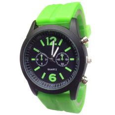 Fashion Boys Girls Ladies Silicone Jelly Gel Quartz Analog Sports Wrist Watches Green