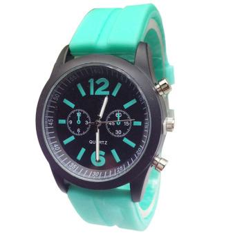 Fashion Boys Girls Ladies Silicone Jelly Gel Quartz Analog Sports Wrist Watches Sky Blue