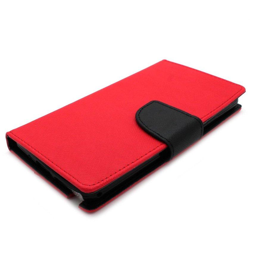 Fashion Case Smartfren Andromax G2 Leather Case - Merah