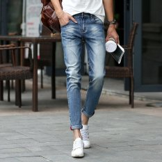 Fashion Men Summer Stretchy Slim Jean Pants 922 (Intl)