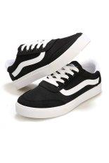 Fashion Men's Low-cut Casual Sneakers Canvas Shoes Sport Shoes Black (Intl)