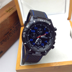Fashion Men'S Women Sport Analog Silicone Quartz Silicone Wrist Watch (Dark Blue)