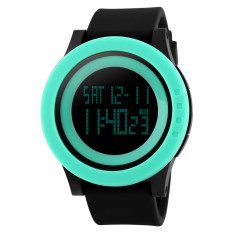 Fashion Silicone Waterproof LED Digital Watch For Men Clock Digital-watch (Green)