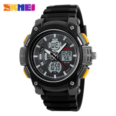 Fashion Sports Men Watches Casual Digital LED Men Watch 50M Dive Watch SKMEI Brand Fashion Watches (Yellow)