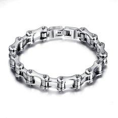 Fashion Stainless Steel Bike Bracelet Men Biker Bicycle Motorcycle Chain Bracelets Bangles Jewelry - INTL