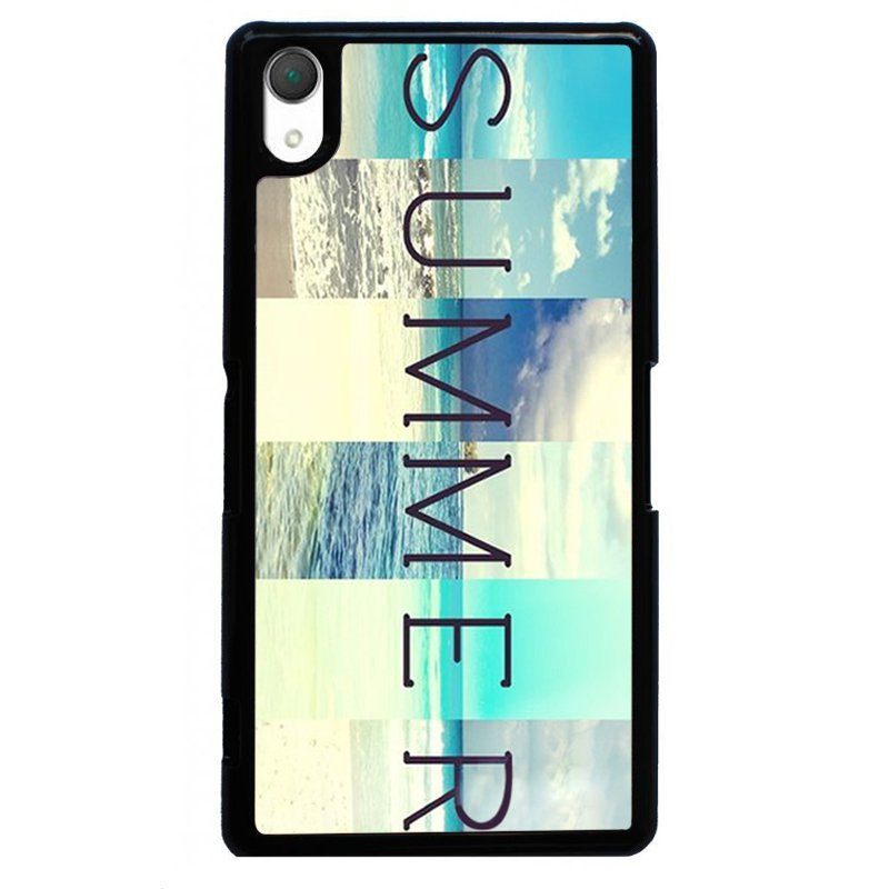 Fashion Summer Beach Painting Phone Case for SONY Xperia Z3 (Black)