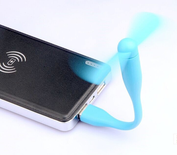 Fashion Two Leaves Portable USB Mini Fan Cooling Ventilator for Notebook Laptop (Intl)
