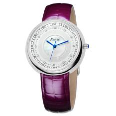 Fehiba KIMIO Ms. Watch Fashion Casual Leather Watch Quartz Watch Shell Surface KW521M (Purple)