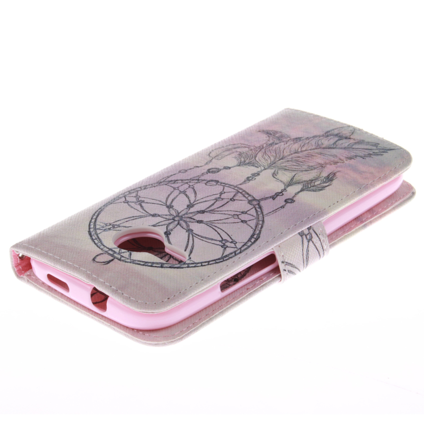 Filp Leather Dreamcatcher Double Painting Cover for HTC One M8 Mini (Multicolor) (Intl)