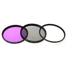 FitTek 77mm Optical Glass Filter Kit With CPL Filter FLD Filter UV Filter - Intl