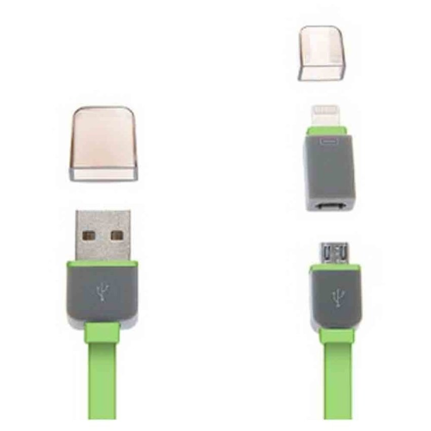 Flat Noodle Cord design for IPhone 5/6 /6 +/Note 4/2/S5/S4 (Green) (Intl)