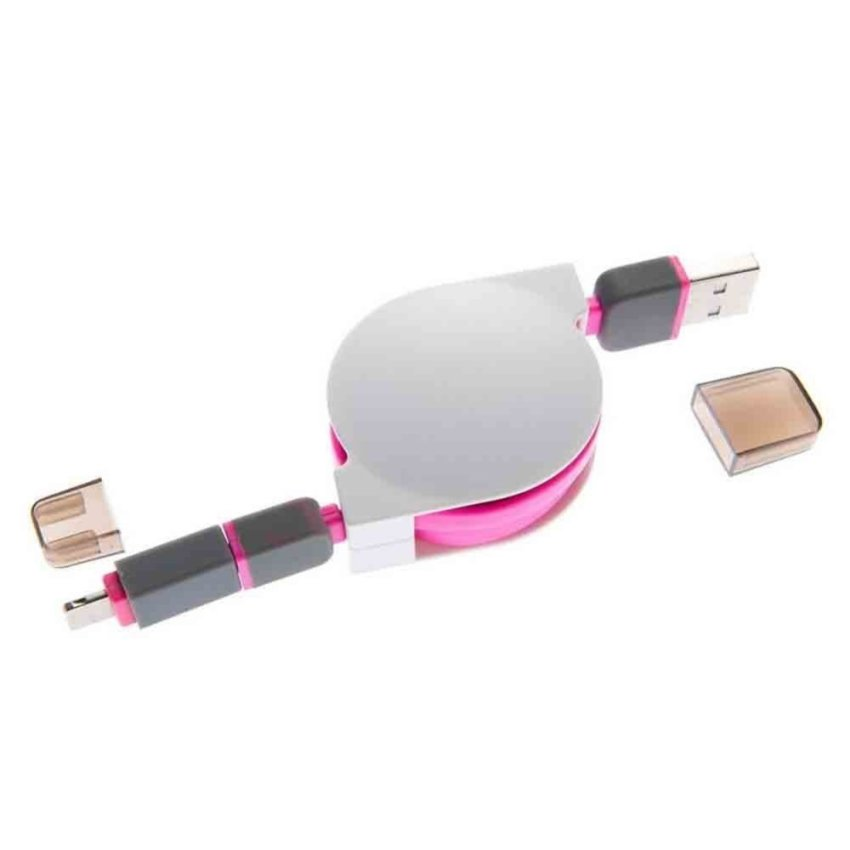 Flat Noodle Cord design for IPhone 5/6 /6 +/Note 4/2/S5/S4 (Pink) (Intl)