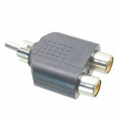 Fliegend 10pcs RCA Photo Adapter 1 X Male Plug To Twin 2 X Female Sockets Y Splitter (Intl)