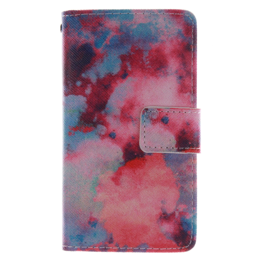 Flip Leather Case Built in Card Slot with Red Sky Double Painting for Sony Xperia Z3 Mini (Multicolor) (Intl)