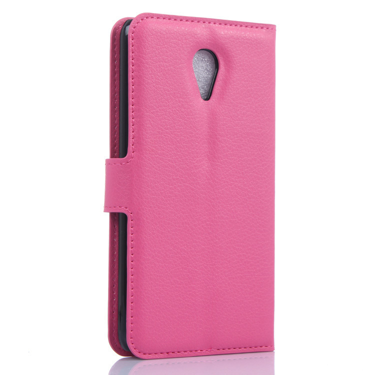 Flip Leather Cover for Meizu M1 Note (Rose Red) (Intl)