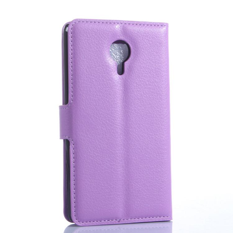 Flip Leather Cover for Meizu MX4 (Purple) (Intl)