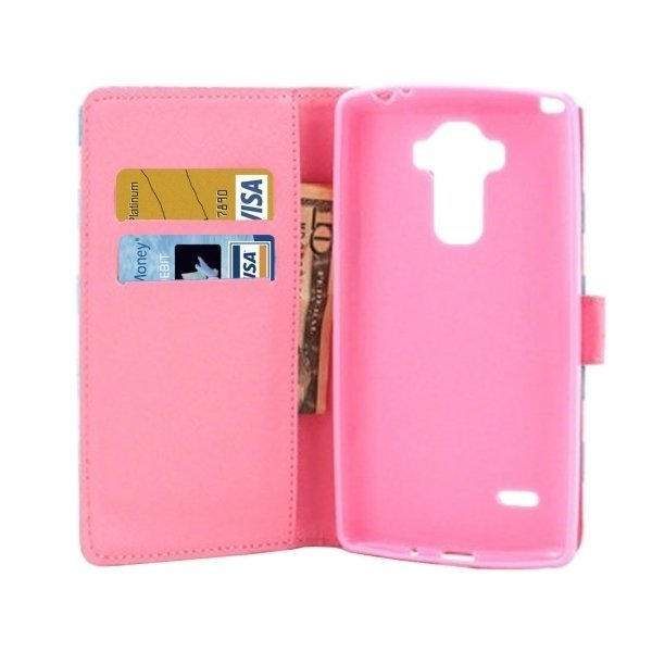Flip Leather Cover with Holder & Card Slots & Wallet for LG Stylus LS770 (Pink) (Intl)