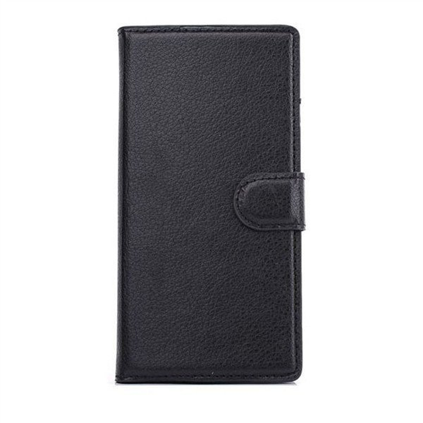 Flip Leather Wallet Case Cover Stand For Samsung Galaxy Alpha G850 Black