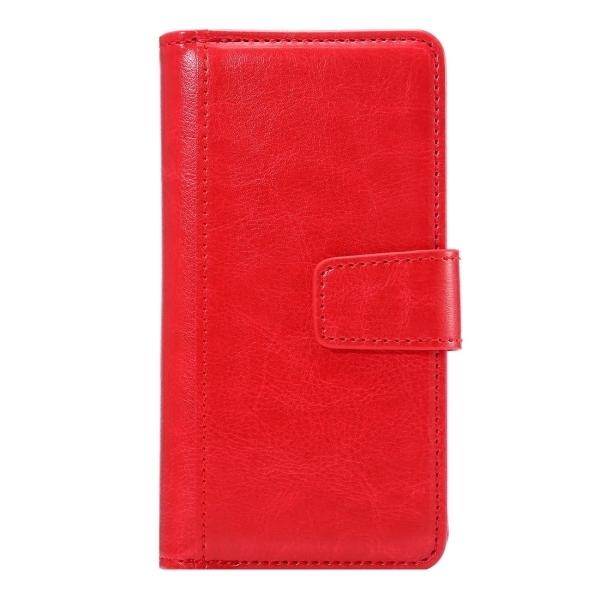Flip Leather Wallet Cover with 7 Card Slots & Lanyard for iPhone 6 & 6s(Red) (Intl)