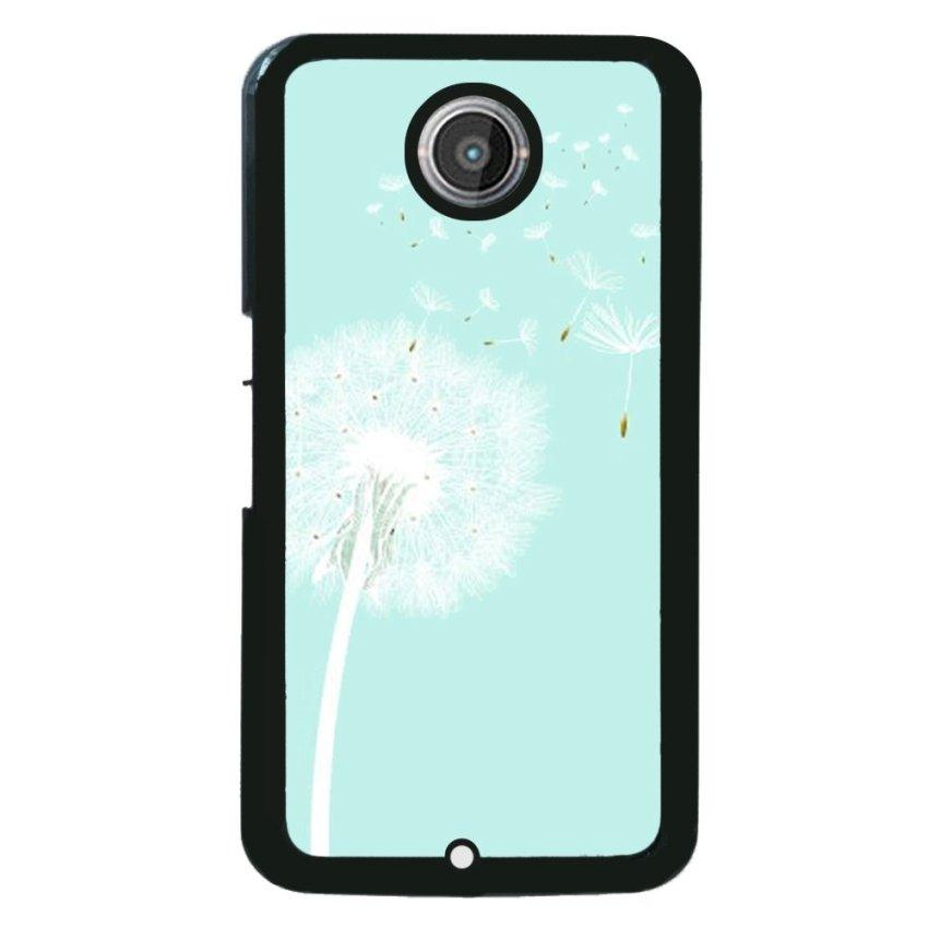 Floral Pattern Phone Case for Motorola Nexus 6 (Light Blue)