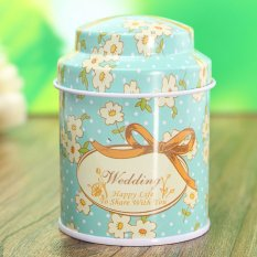 Flower Metal Sugar Coffee Tea Tin Jar Container Candy Sealed Cans Box 01