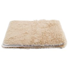 Fluffy Rugs Anti-Skid Shaggy Area Rug Dining Room Carpet Home Bedroom Floor Mat (Light Coffee)