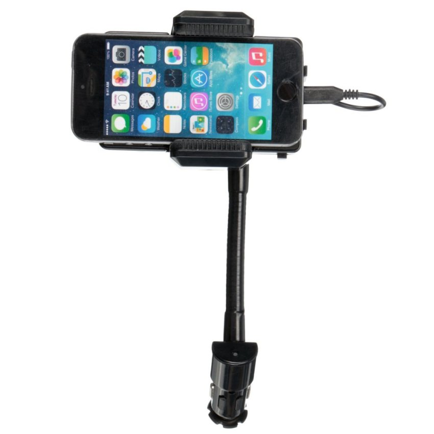 FM Transmitter Car Charger Holder For Smartphone (Intl) (Intl)
