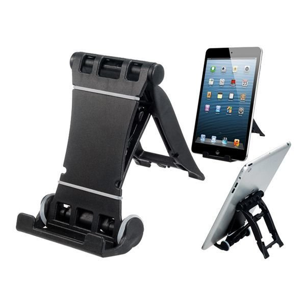 Foldable Hard Plastic Stand Phone Holder for iPhone iPad Samsung (Black)