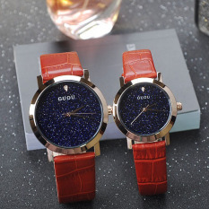 Foorvof GUOU New Personalized Fashion Leather Watch Watch With A Blue Sky Sand Chassis Ladies Watch