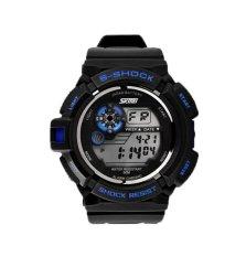 Foorvof SKMEI Digital LED Quartz Climbing Dive Watch Wristwatch (Blue)