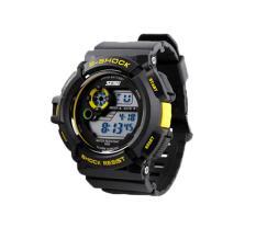 Foorvof SKMEI Digital LED Quartz Climbing Dive Watch Wristwatch (Yellow)