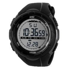 Foorvof Skmei Mens Fashion Military Sports Wrist Watch (Black)