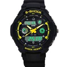 Foorvof SKMEI Multifunction Military LED Analog Digital Watches (Yellow)