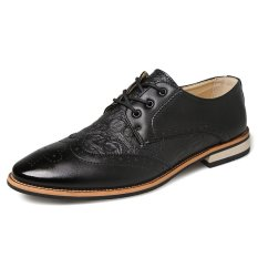 Formal Crocodile Leather Men Casual Business Shoes (Black) - Intl