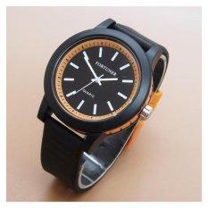 Fortuner - FRJa-867NY05 - Jam Tangan Wanita & Pria - Karet - ( Hitam - Orange )
