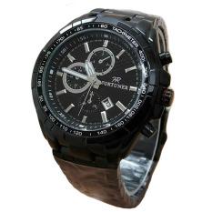 Fortuner Jam Tangan Wanita - Staibless Steel - Black - Fr K410 Silver Black
