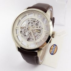 Fossil ME 3043 Automatic - Jam Tangan Pria - Leather Strap - Brown Gold