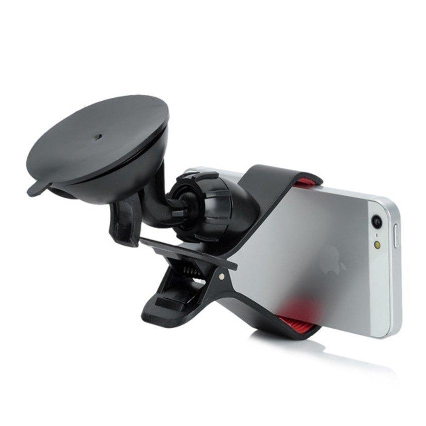 Freeker 360 Degree Rotatable Car Holder for Iphone 5 / 4 / 4S + More Black (Intl)