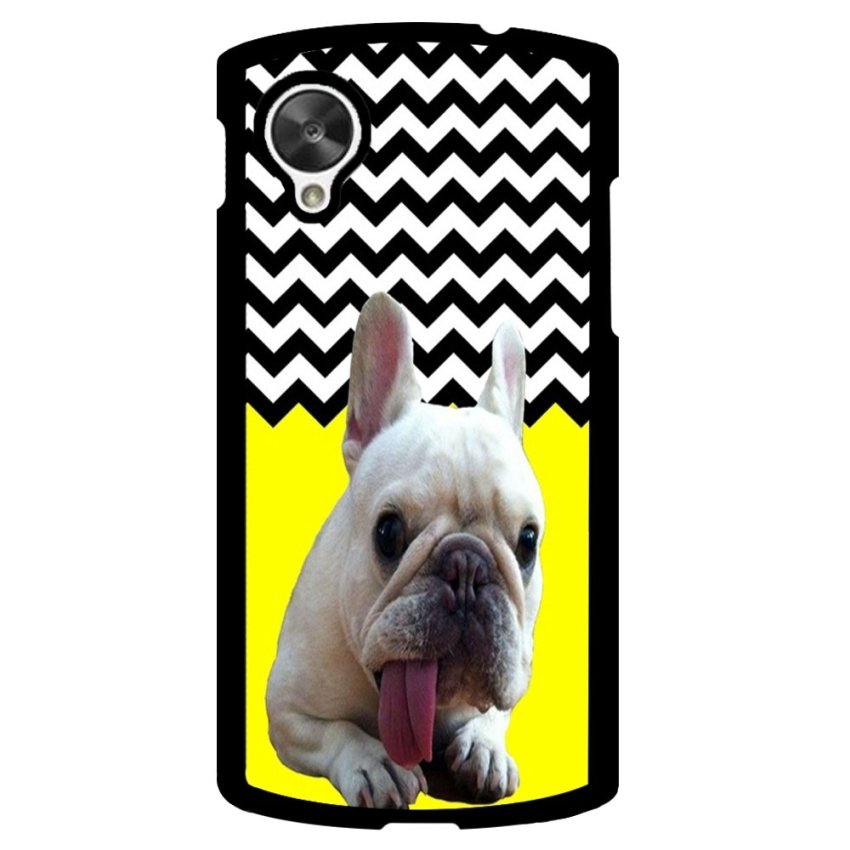 French Bulldog Chevron Pattern Phone Case for LG Nexus 5 (Multicolor)