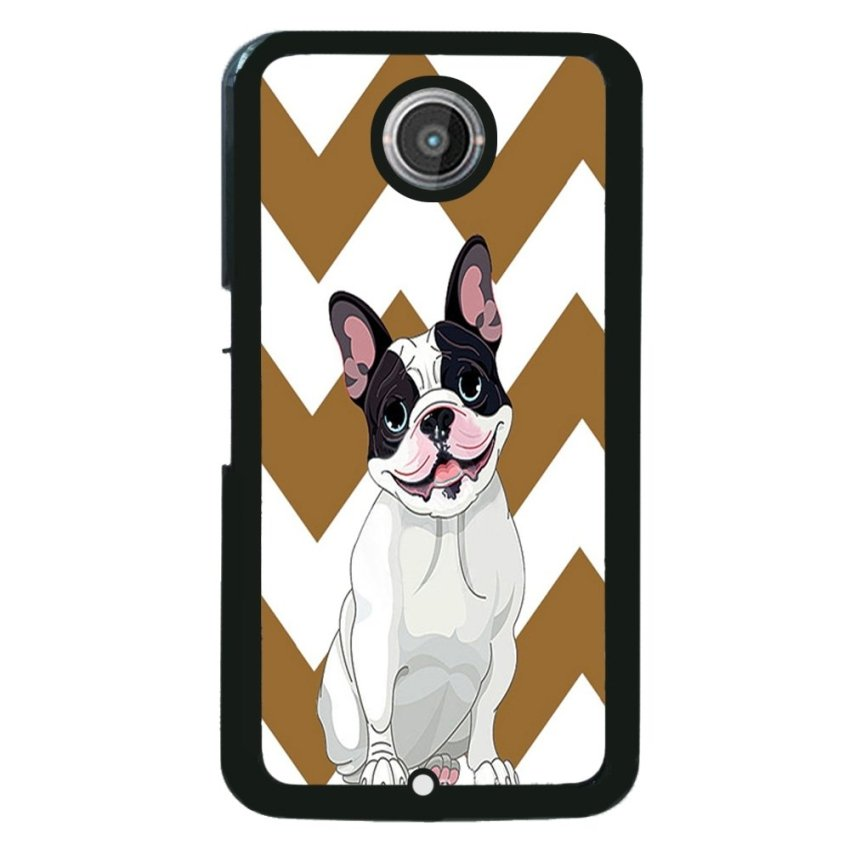 FRENCH BULLDOG Pattern Phone Case for Motorola Nexus 6 (Black)