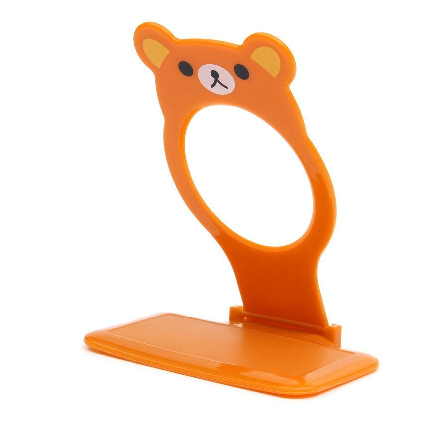 FSH Foldable Cute Bear Wall Charger Mounts Holders Shelf for iphone Sumsung HTC LG (Brown) (Intl)
