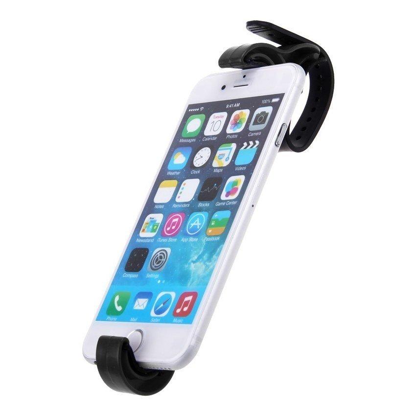 FSH Steering Wheel Cradle Holder Smart Clip Car Mount Bracket F Mobile Phone GPS PDA (Black) (Intl)