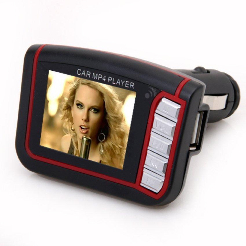 FSH Wireless 1.8 LCD Car Kit MP3 MP4 Music Player FM Transmitter (Black) (Intl)