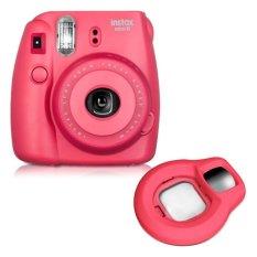 Fujifilm Fuji Instax Mini 8 Instant Photo Film Camera (Raspberry) + Close-up Lens
