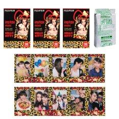 Fujifilm Fuji Instax Mini Kitty Leopard Instant 30 Film For Fuji 7s 8 2.50.70 90 / Polaroid 300 Instant Camera / Share SP-1 Printer - INTL