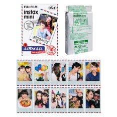 Fujifilm Instax Mini Airmail Instant 10 Film For Fuji 7.8 2.50s 7.90 / Polaroid 300 Instant Camera / Share SP-1 Printer (Intl)
