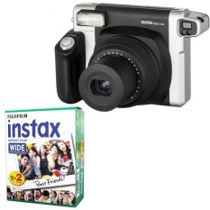 Fujifilm Instax WIDE 300 Instant Camera + WIDE White 20 Film (Black) (Intl)
